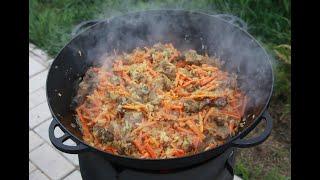 Готовим туркменский ПЛОВ. prepare pilaf