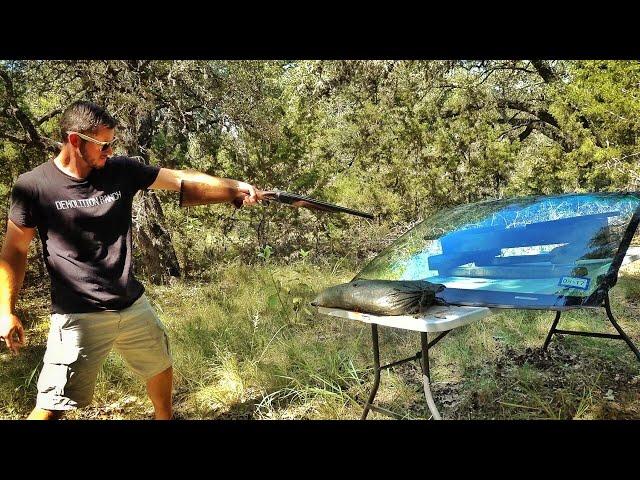 Shotgun vs Lamborghini Windshield