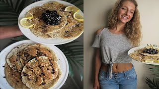 VEGAN PANCAKES RECIPE | OIL FREE & EASY (chocolate chip, peanut butter & blueberry)