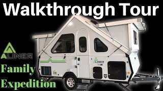 2020 Aliner Family Expedition Folding Trailer Walkthrough Tour Youtube