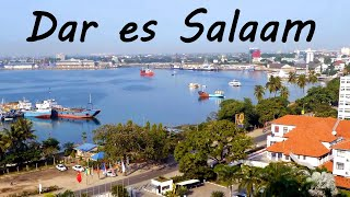 Dar es Salaam, Tanzania, aerial view and tourist attractions