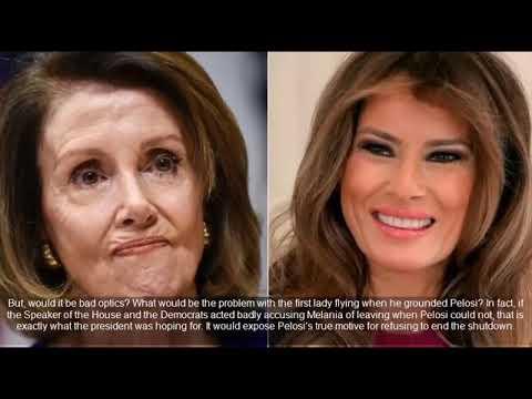 Nancy Pelosi's Furious As Melania Trump Steps In Exposes 'Real Motive' For Shutdown