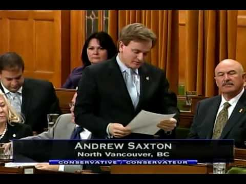 MP Andrew Saxton - Statement in the House of Commons - Seaspan Shipyards