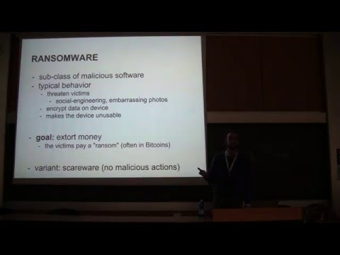 "Conferenza Sicurezza e Privacy 2016 - ""Android Ransomware"""