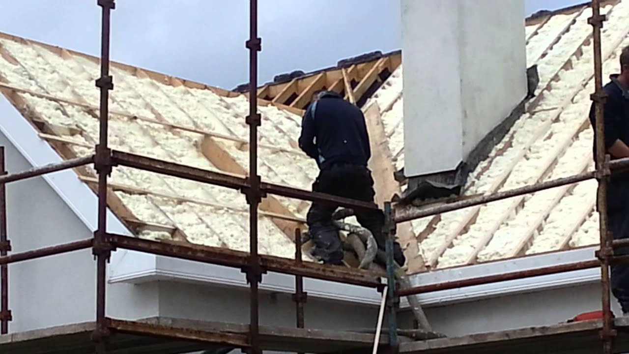 EEH REMOVE ROOF AND SPRAY FOAM INSULATION - YouTube