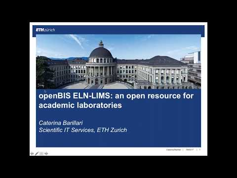 "Caterina Barillari, ""openBIS ELN-LIMS: an open resource for academic laboratories"""