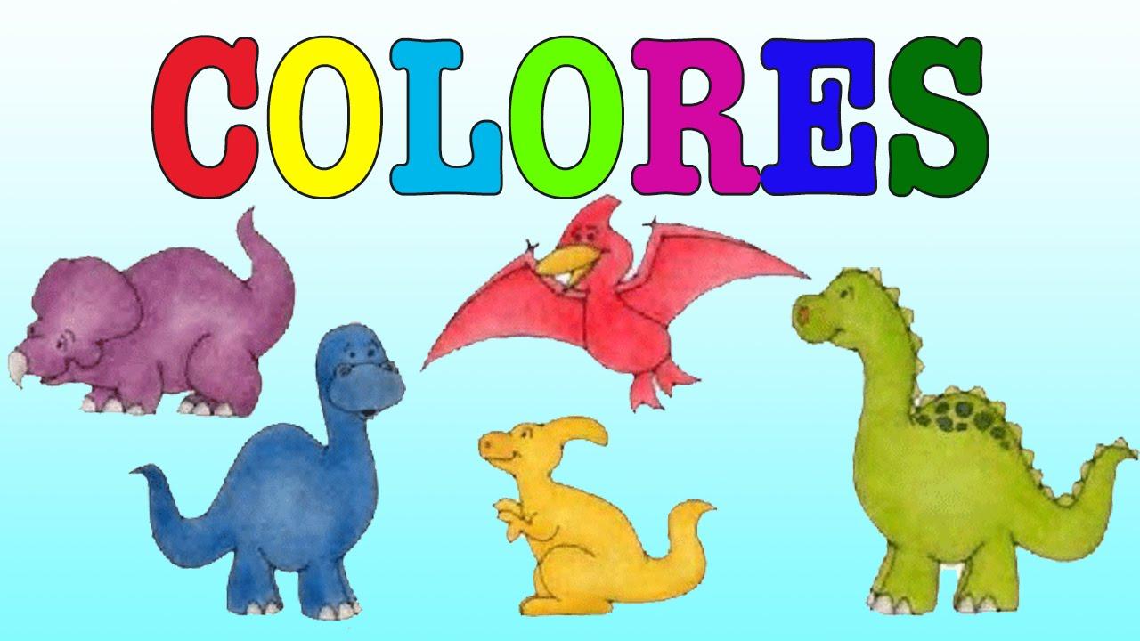 Dinosaurios de colores para niños /Aprende los colores - YouTube