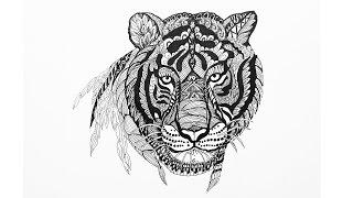 Doodling | Zentangle Как рисовать ДУДЛИНГ узоры (ТИГР) Уроки рисования(В этом уроке вы познакомитесь с техникой дудлинг. мы нарисуем тигра дудлинг узорами для начинающих. ▻ Скач..., 2015-11-07T00:03:19.000Z)