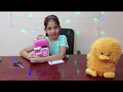 Electronic Money Safe Piggy Bank Type Toy - SR Sensing Saving Box - Jaanvi's World