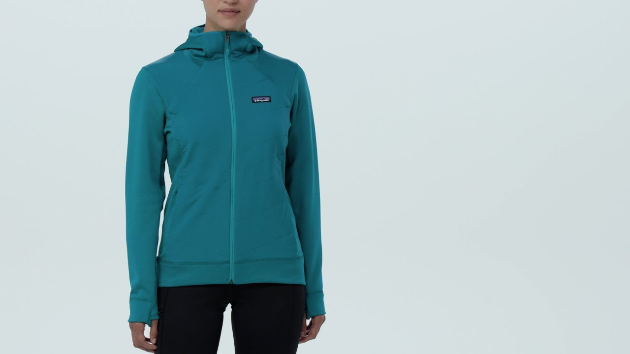 Patagonia Women s Crosstrek™ Fleece Hybrid Hoody - YouTube 264f9d8f16