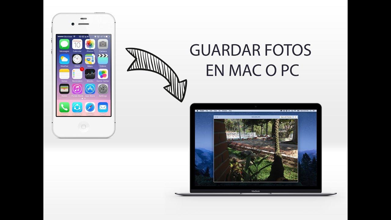 Pasar FOTOS de iPhone iPad a Mac o PC FUNCIONA 2017 - YouTube