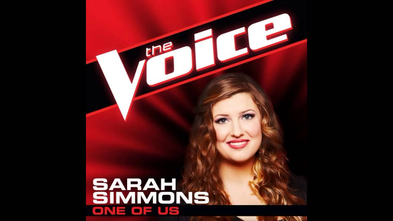 "Sarah Simmons: ""One of Us"" - The Voice (Studio Version) - YouTube"