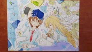 SPEED DRAWING MASHIRON SHIINA & SORATA | sakurasou no pet na kanojo | Drawings Eva thumbnail
