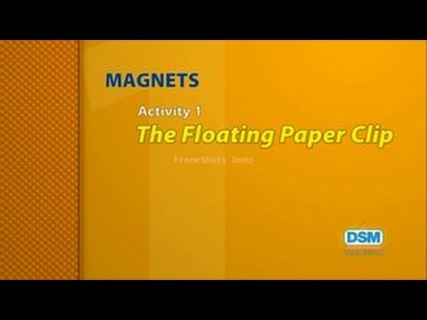 Magnets - Activity 1 The Floating Paper Clip - YouTube