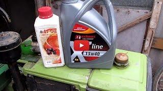 видео Какое масло заливать в двигатель мотоблока Нева?