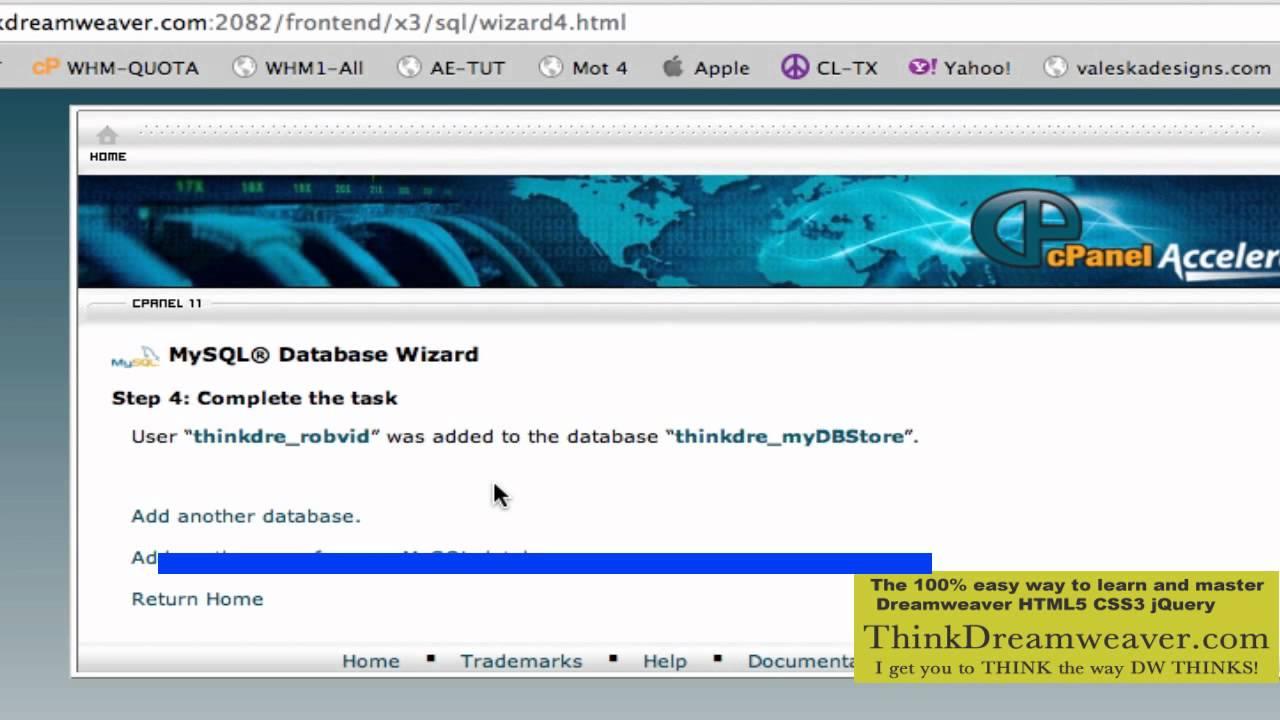 Dreamweaver CS5.5 php mysql video training tutorial how to build ...