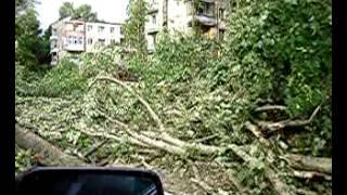 Фото Дубна после урагана.  съёмки Михаила Лисеенко 2005 год