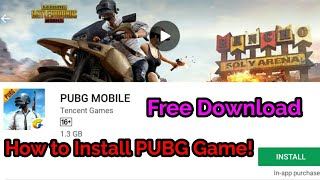How to install Pubg game in Android phone || PUBG game kaise download kare||