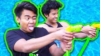 WACKY WATER GUN CHALLENGE!! FT GUAVA JUICE!!!