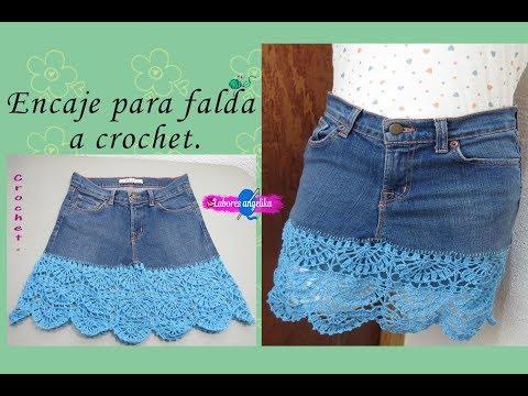 d7e1dbdcd0 Faldas a crochet - YouTube