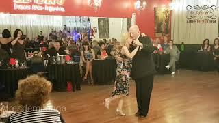 Maestros ingleses exhiben tango en El Beso, Bill La Pantera & Ann Froud en Champagne tango
