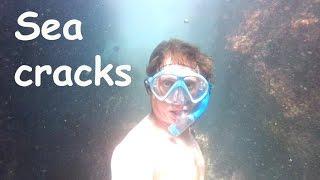 Exploring sea cracks - softypapa adventures