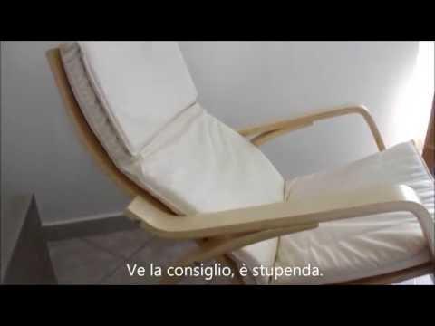 Sedia A Dondolo In Legno Comoda Rilassante Con Cuscino In