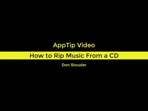 How to Rip Music From a CD