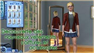 Les Sims 3 University - Découverte des nouveaux vêtements,coiffures et accessoires [ HD ]
