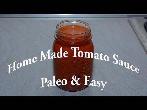 Easy Homemade Paleo Tomato Sauce - Canning Recipe # 1