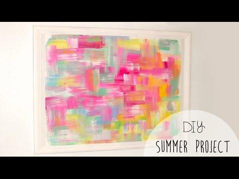 Diy Easy Room Decor Abstract Wall Art Youtube
