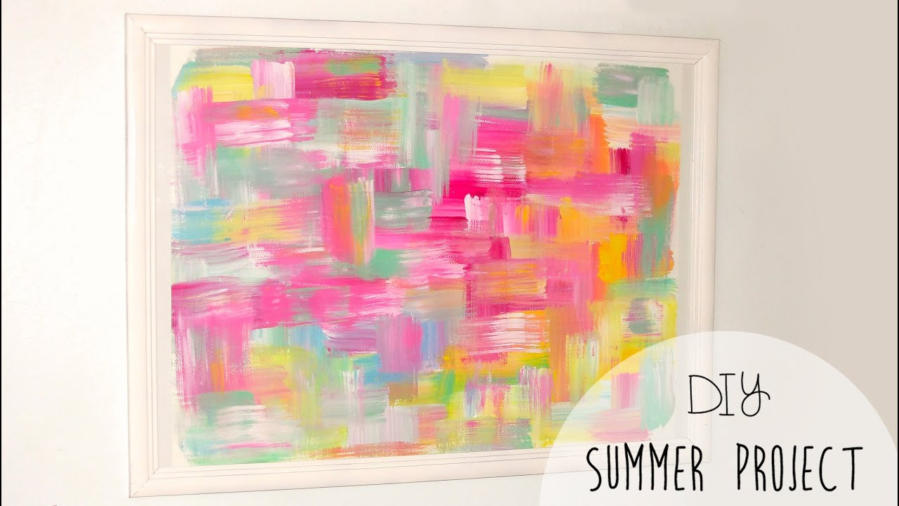 DIY Easy Room Decor! Abstract Wall Art   YouTube