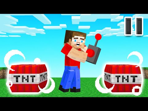 Minecraft But You Can FREEZE TIME!
