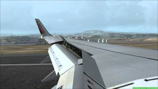 FS2004 - Landing at Airport Tenerife-South Reina Sofia with Air Berlin B737.mp4