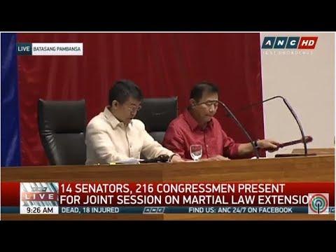 LIVE: Senate, House of Representatives convene to discuss martial law extension