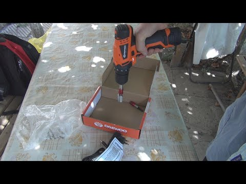 Unboxing and test of Daewoo Lithium Drill DALD1210 Electric Screwdriver