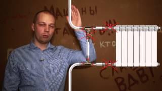 Не греет радиатор. Неправильное подключение/Radiator does not warm. Incorrect connection.(Из этого видео вы узнаете, как понять правильно ли он подключен и что делать если это не так. Другие причины:..., 2015-01-08T21:18:23.000Z)