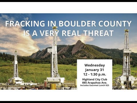 FRACKING IN BOULDER COUNTY IS A VERY REAL THREAT