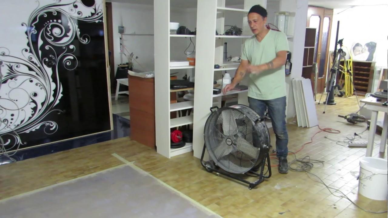 Corso completo pavimento in resina spatolata con finitura a film