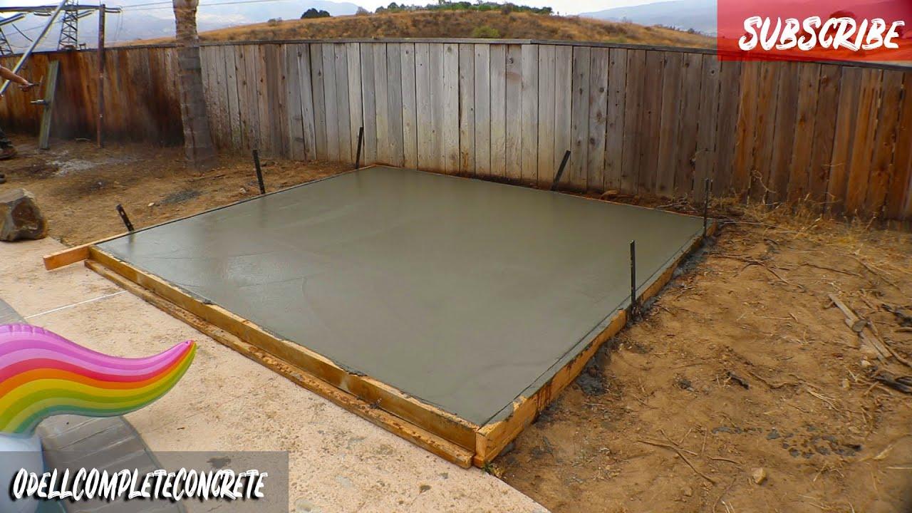 Easy Jacuzzi Concrete Slab Diy