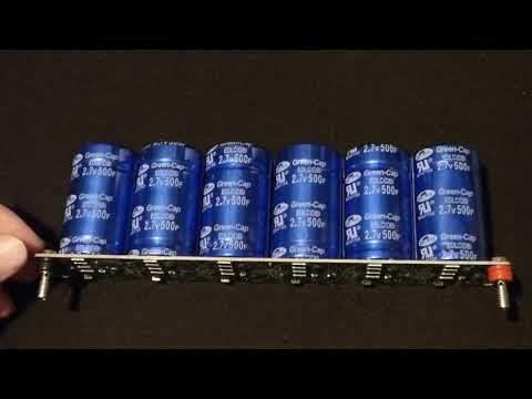 I test the voltage leakage of my series supercapacitors and find damage