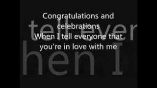 Congratulations by Cliff Richard lyrics thumbnail