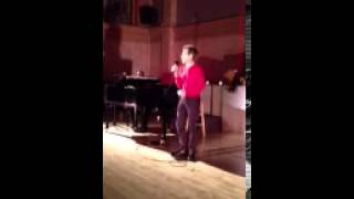 """Robert McNamara sings at the Teddy Care Benefit at Judson - """"I Got Out of Bed on the Right Side"""""""