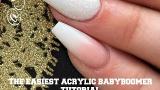 THE EASIEST BABY BOOMER NAIL TUTORIAL | Elite beauty supplies