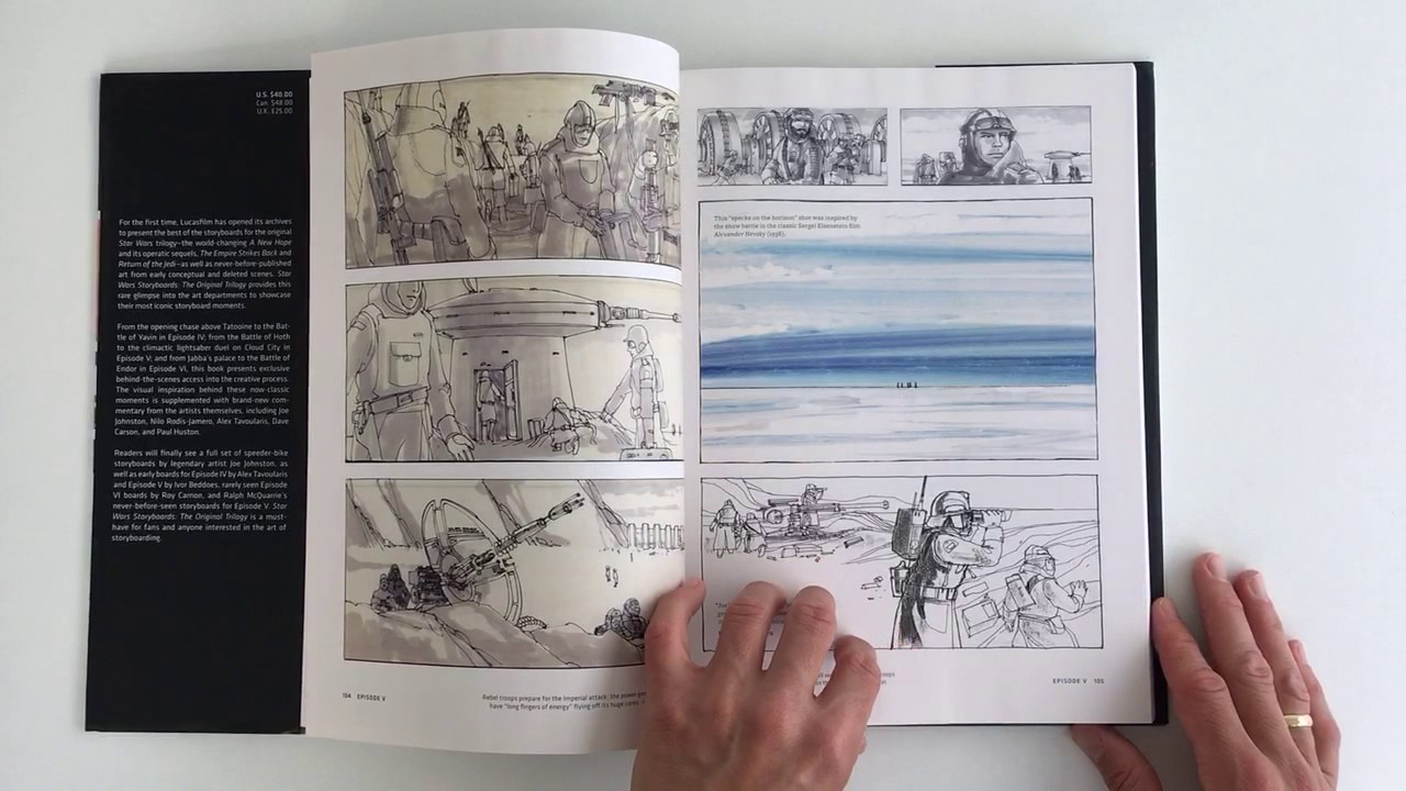 Star Wars Storyboards Original Trilogy Quicklook Coolbook Youtube