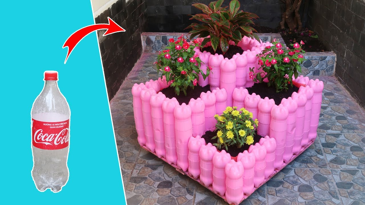 Stunning ideas | Recycling Plastic Bottles into tiered Planter box for Your Garden