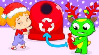 Новый эпизод | Образовательные мультфильмы Groovy Марсиани | Простая переработка отходов для детей