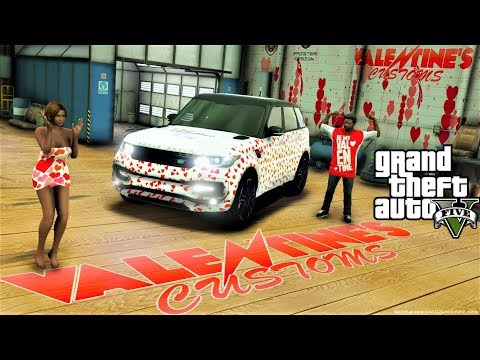 GTA 5 Real Life Mod #120 Happy Valentine's Days Franklin Buys His Girl Friend A Range Rover Startech