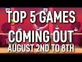 Top 5 Games Coming Out This Week | AUGUST 2ND TO 8TH - GameX.io