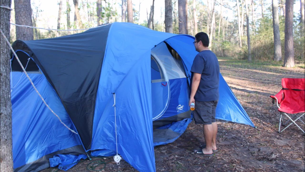 & COLEMAN MONTANA 8 PERSON TENT - YouTube